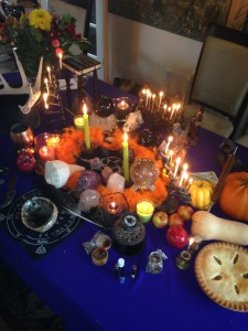 This is the Altar we prepared for our Samhain Ritual Oct 31st 2015 at Cast & Conjure